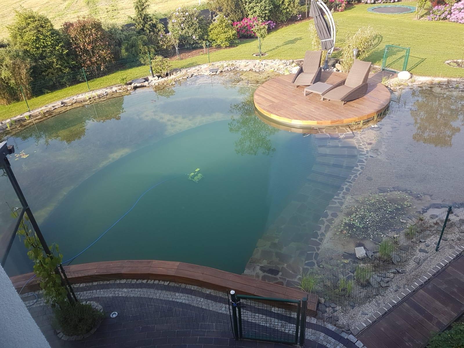 Wasserverbrauch von einem Schwimmteich